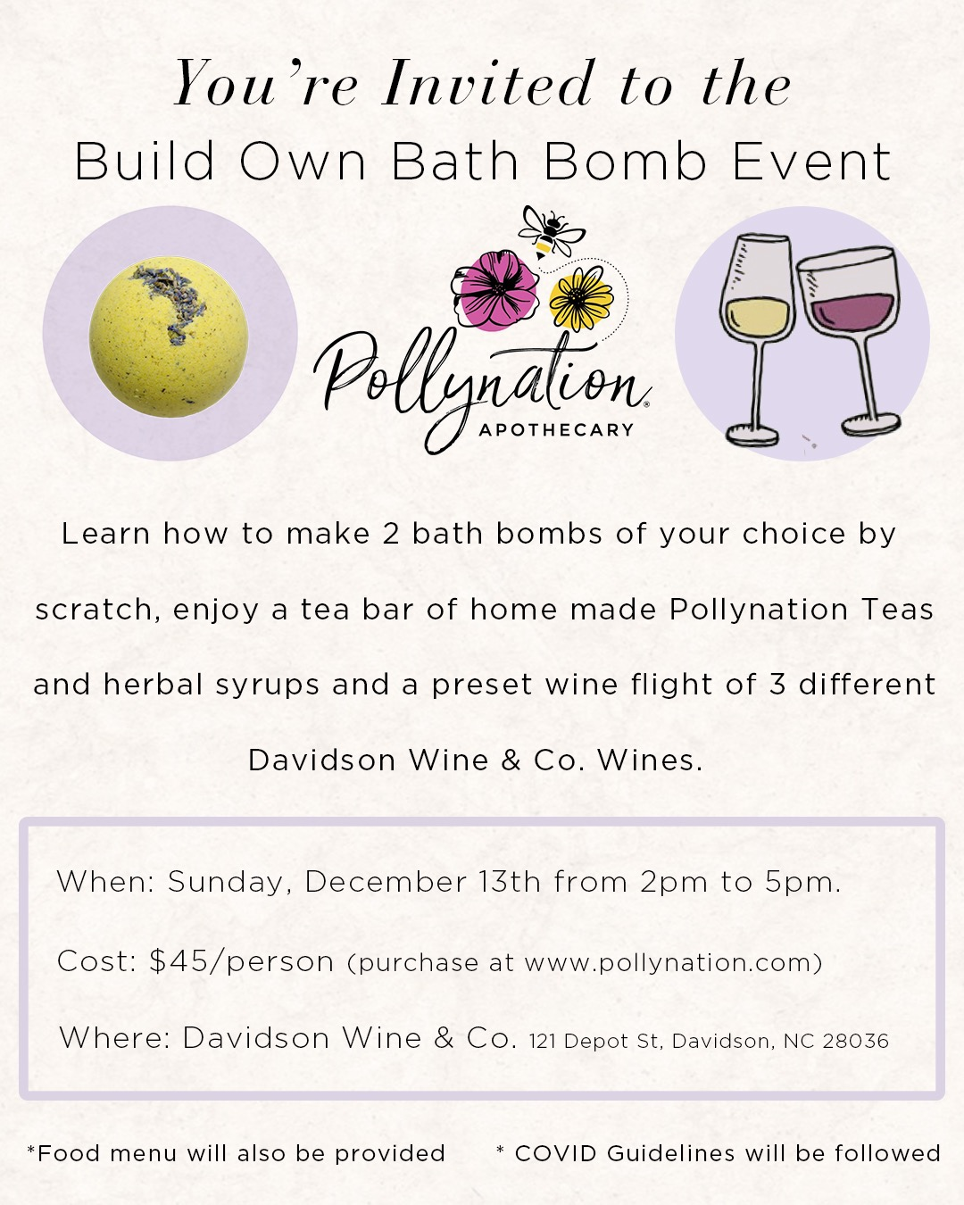 Build Own Bath Bomb Event